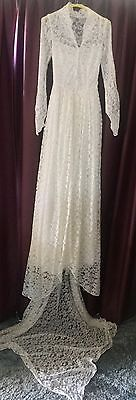 Vintage 'Queen Elizabeth' Style Lace wedding Dress 1950's