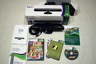 Xbox 360 KINECT SENSOR COMPLETE in BOX Kinect Adventures TESTED