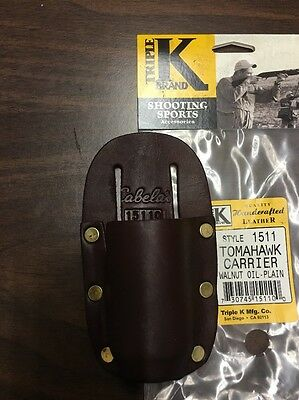 Triple K Leather Tomahawk Carrier-New Factory Discontinued - Made In U.s.a.