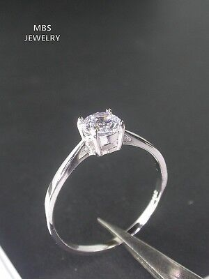 0.68Ct Solitaire Created Diamond 925 Sterling Silver Ring