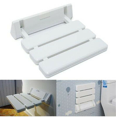 Wall Mounted Bathroom Spa Shower Stool Fold Away Seat Rest Fold Down Bench Chair