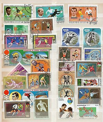 SPORTS Thematic STAMP Collection Inc OLYMPICS & FOOTBALL Used REF:TS148
