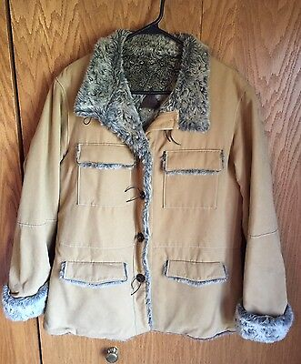 Fjall Faux Suede Jacket Women's Size Large