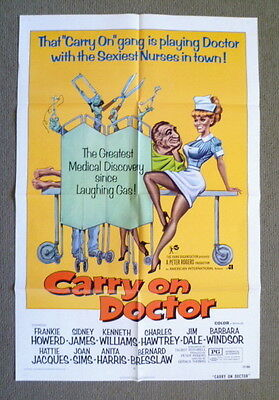 Carry On Doctor ~ Original 1972 U.s. One Sheet Movie Poster