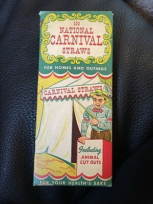 Vintage 100 National Carnival Straws