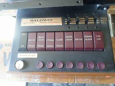 Vintage Baldwin Rhythm Percussion Drummer unit