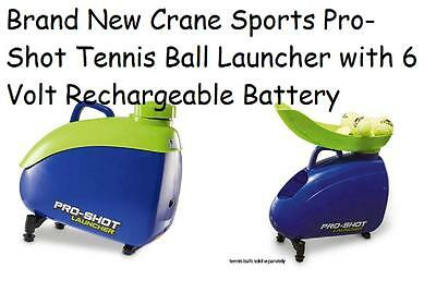 Brand New Crane Sports Pro-Shot Tennis Ball Launcher with 6 Volt Rechargeable