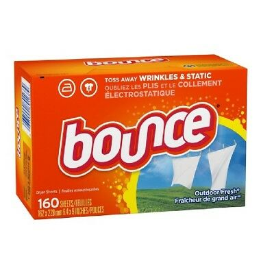 New Bounce Outdoor Fresh Dryer Sheets Fabric Softener 260 Sheets