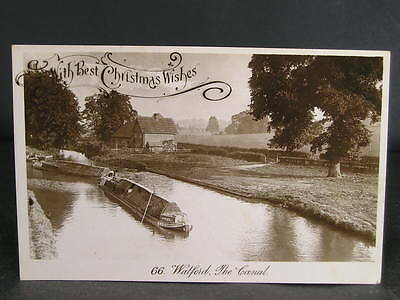 no 145  Canal  Photo Postcard Barge on The Watford Canal