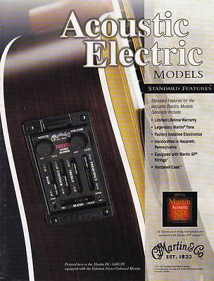 "2001 ""Martin"" Acoustic Electric Guitar Catalog. Full Color. 12 Pages."