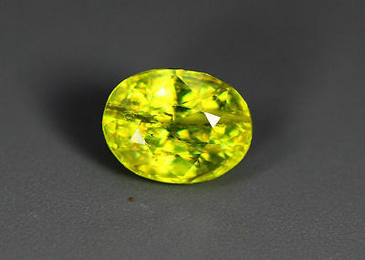 0.93 Cts_Simmering Ultra Nice Color Gemstone_100 % Natural Green Sphene