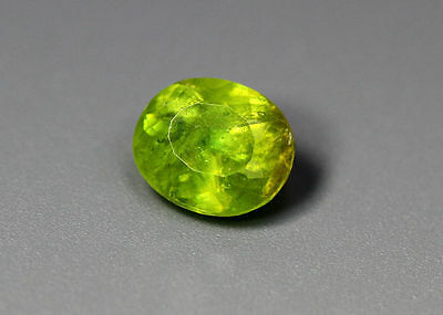 0.95 Cts_Simmering Ultra Nice Color Gemstone_100 % Natural Green Sphene