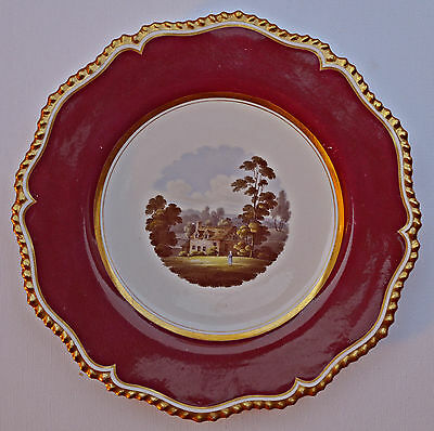 Royal Worcester Flight Barr & Barr Hand Painted Plate C 1820