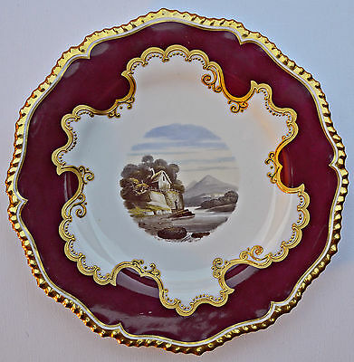 Royal Worcester Flight Barr & Barr Hand Painted Plate C 1830