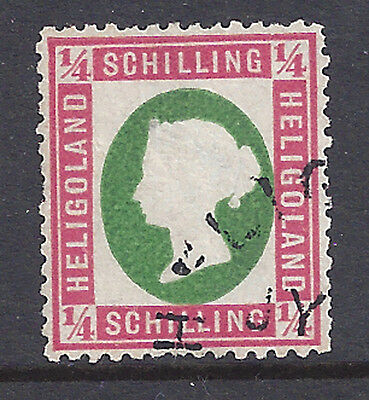Heligoland Stamp 1873 1/4sch Die I Rose & Green (#7) Signed U $2250