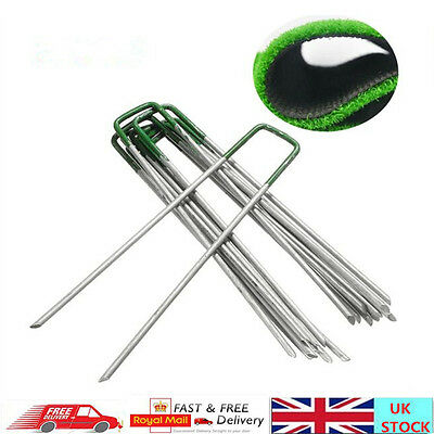 Top Green Green Artificial Grass Turf Galvanised U Pins Metal Peg Staples Bulked