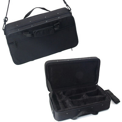 Professional Musicians Lightweight Square Messenger Case Bag for Clarinet Black