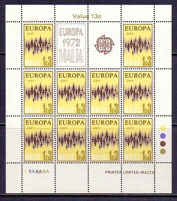 Malta. 4 mint never hinged sheets of Europa stamps issued 1972