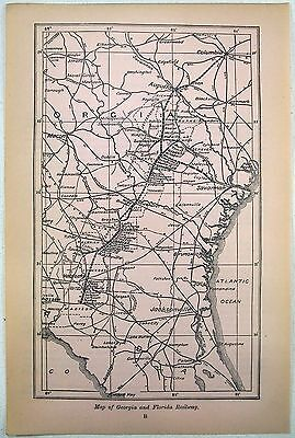 Original 1906 Map of the Georgie and Florida Railway