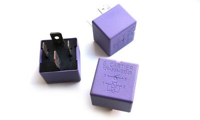 1 x Relay G. Cartier 12V 50A 03525 4-PIN Purple Relay -- NEW (1pc)