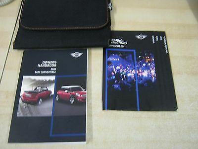 Bmw Mini And Convertible   Owners Manual Handbook  2006-2012   Inc Audio