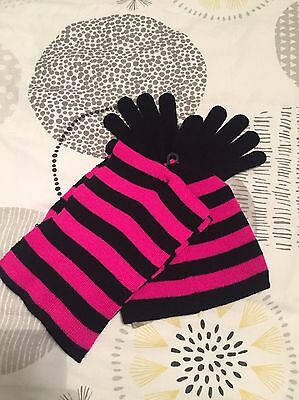 Girls Hat, Scarf & Gloves Set, Age 4-5 Years