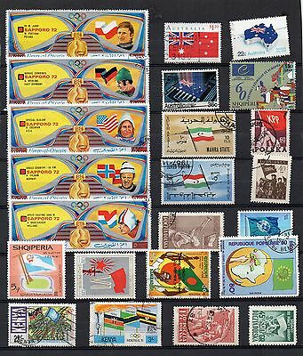 FLAGS Thematic Stamp Collection USED Ref:TS140