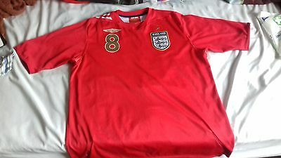 Men's England Football Away Shirt, 2006-2008, Size Large