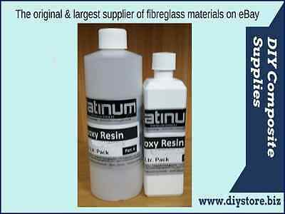 750 ml. Ultra Clear Casting EPOXY RESIN 2:1 kit UV (Platinum)