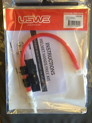 Uswe Hydration Hydro Helmet Hands Free Kit For Full Face Helmets  Red