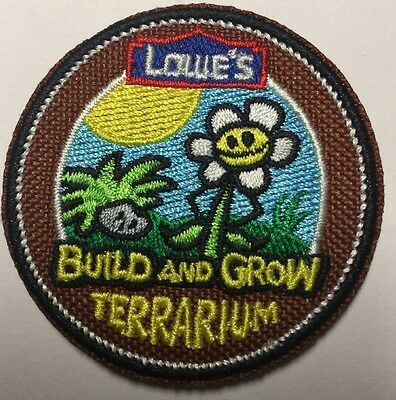 PATCH Terrarium Iron On Patch LOWES Build Grow Kids Clinic
