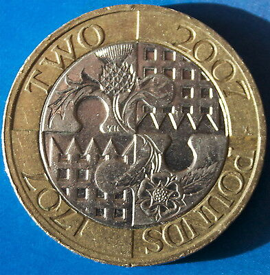 Act of Union £2 coin. Two Pounds.