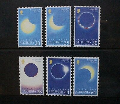 ALDERNEY 1999 Total Eclipse of the Sun. Set of 6. Mint Never Hinged. SGA125/A130