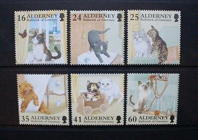 ALDERNEY 1996 Cats. Set of 6. Mint Never Hinged. SGA89/A94.