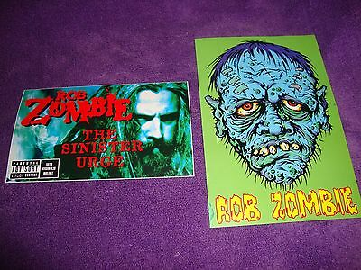 ROB ZOMBIE promo post cards and newspaper concert ad