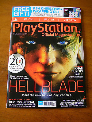 Playstation Official Magazine 104 Christmas 2014 - Hellblade - Battlefield Ps4