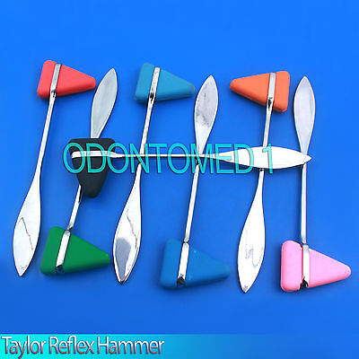 Stainless Steel Taylor Percussion Hammer Set Of 7 Colors Surgical Instruments