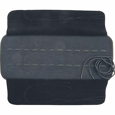 """6 1/2"""" X 8"""" Knife Roll Storage Carrying Case Holds 24 Knives Black Faux Leather"""