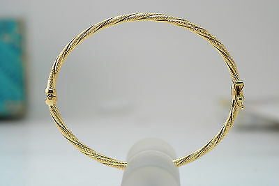 18K gold twisted bangle / bracelet