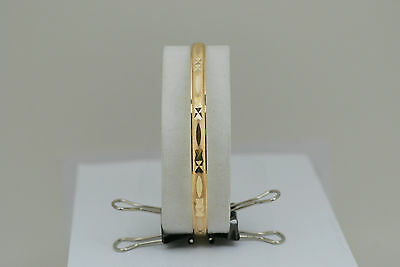 10K solid gold bangle / bracelet