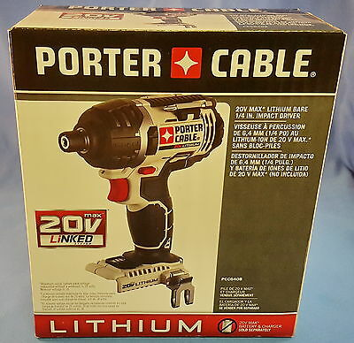 "Porter-Cable PCC640B 20V Max Li-ion 1/4"" Cordless Variable Speed Impact Driver"