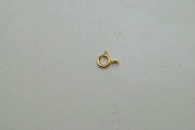 18K gold spring ring clasp