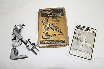 Vintage General No 825 Drill Grinding Attachment With Original Box/Instructions