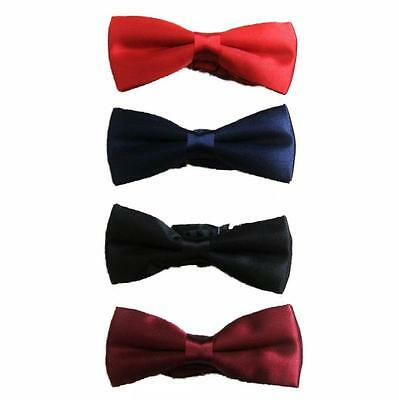Boys Kids Childrens Pre Tied Satin Adjustable Bow Tie
