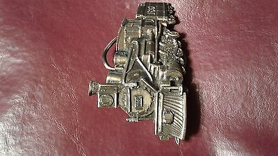 """Belt Buckle TRAIN lOCOMOTIVE 1981 The Great Chicago H275 USA made metal 3 1/4"""""""
