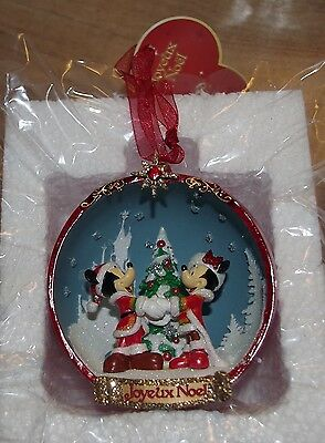 Disney Store Mickey and Minnie Mouse open Bauble tree decoration Christmas red