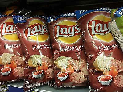 Canadian Lay's Ketchup Chips 255gm Family Bag!
