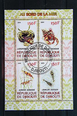 Krebse 12 crabs écrevisse Meerestiere sea animals Fauna KB sheets gestempelt