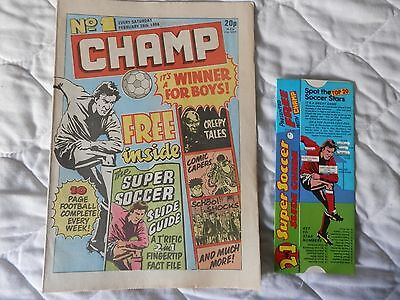 CHAMP COMIC 3 issues Nos 1,2 and 3 all with free gifts included