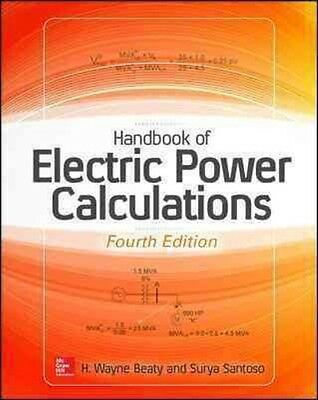 Handbook of Electric Power Calculations by H. Wayne Beaty Hardcover Book